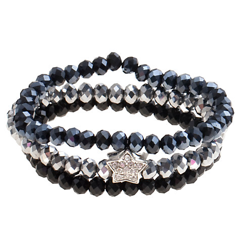 Buy John Lewis Mini Star Bracelet, Navy Online at johnlewis.com
