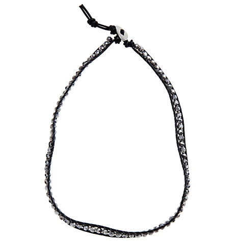 Buy John Lewis Faux Leather Sparkle Wrap, Black Online at johnlewis.com