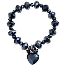 Buy John Lewis Heart Drop Facet Bracelet, Black Online at johnlewis.com