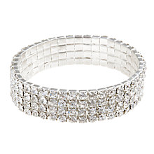 Buy John Lewis Four Row Diamante Bracelet Online at johnlewis.com