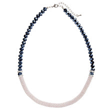 Buy John Lewis Half Effer Necklace, Navy Online at johnlewis.com
