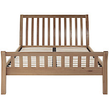 Buy Silentnight Corrigan Oak Bedstead, Double Online at johnlewis.com