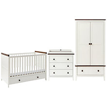Buy Silver Cross Porterhouse Cotbed, Dresser & Wardrobe Set, Ivory and Chocolate Online at johnlewis.com