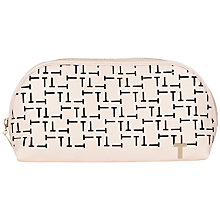 Buy Ted Baker Galina T-Cut Leather Wash Bag Online at johnlewis.com