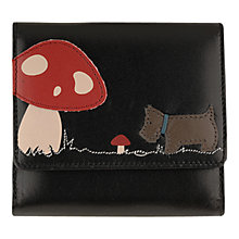 Buy Radley In The Glade Small Foldover Purse, Black Online at johnlewis.com