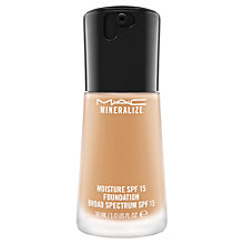 Buy MAC Mineralize Moisture Fluid SPF15 Foundation Online at johnlewis.com
