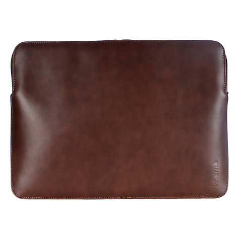 "Buy Knomo Leather Sleeve for 13"" MacBook Pro Online at johnlewis.com"