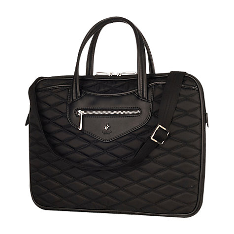 "Buy Knomo Charlotte Slim Quilted Briefcase for 14"" Laptops Online at johnlewis.com"