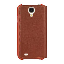 Buy Knomo Leather Folio for Samsung Galaxy S4, Brown Online at johnlewis.com