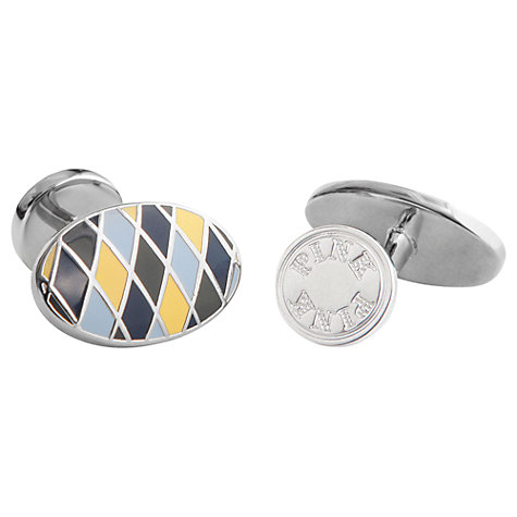 Buy Thomas Pink Oval Harlequin Cufflinks Online at johnlewis.com