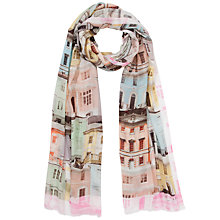 Buy Ted Baker Regency Houses Print Scarf, Pink Online at johnlewis.com