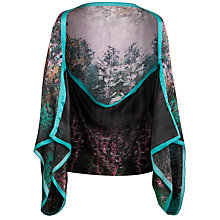Buy Ted Baker Mitsy Forest Scene Silk Scarf Cape, Green Online at johnlewis.com