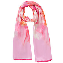 Buy Ted Baker Sweet Floral Silk Scarf, Pink Online at johnlewis.com