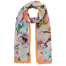 Buy Ted Baker Electric Floral Day Dream Scarf, Orange Online at johnlewis.com
