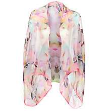 Buy Ted Baker Electric Floral Print Silk Cape, Pink Online at johnlewis.com
