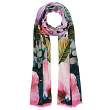 Buy Ted Baker Tangled Floral Botanical Scarf, Pink Multi Online at johnlewis.com