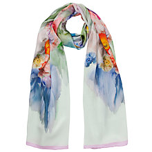 Buy Ted Baker Sweet Floral Silk Scarf, Green Online at johnlewis.com