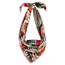 Buy Ted Baker Floral Oil Painting Print Silk Square Scarf, Multi Online at johnlewis.com