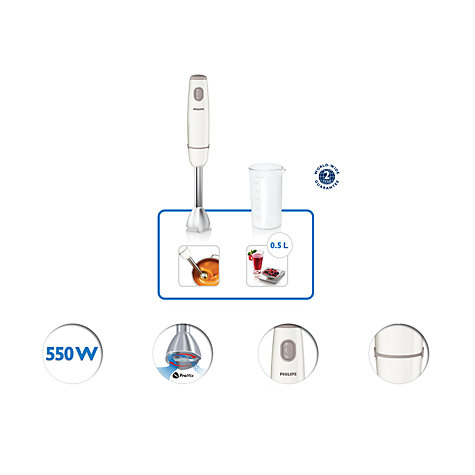 Buy Philips HR1604/01 Daily Collection Hand Blender, White Online at johnlewis.com