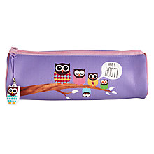 Buy Give A Hoot Barrel Pencil Case Online at johnlewis.com