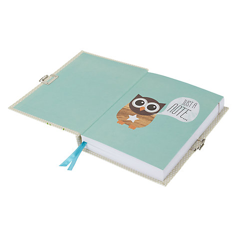 Buy Give A Hoot Lockable Journal Online at johnlewis.com