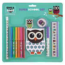 Buy Give A Hoot Super School Stationery Set Online at johnlewis.com