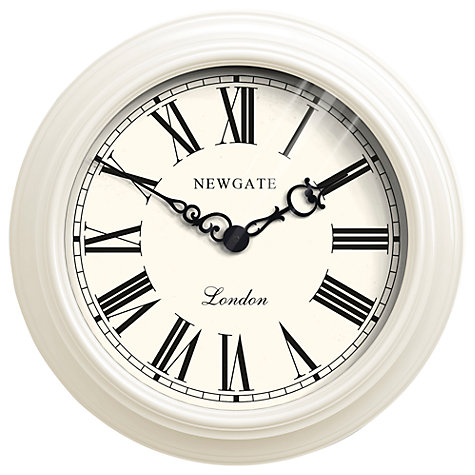 Buy Newgate Gallery Wall Clock, Cream Online at johnlewis.com