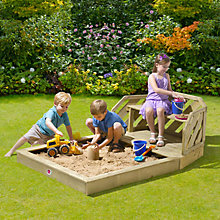 Buy Plum Premium Sandpit With Bench Online at johnlewis.com