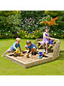 Plum Premium Sandpit With Bench