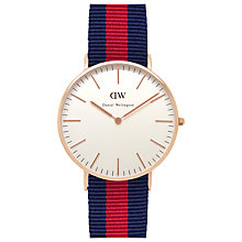 Buy Daniel Wellington Women's Classic Rose Gold PVD Nato Strap Watch Online at johnlewis.com