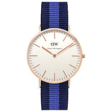 Buy Daniel Wellington Women's Classic PVD Nato Strap Watch Online at johnlewis.com