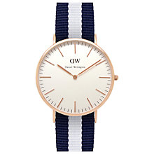 Buy Daniel Wellington Men's Classic Rose Gold PVD NATO Strap Watch Online at johnlewis.com