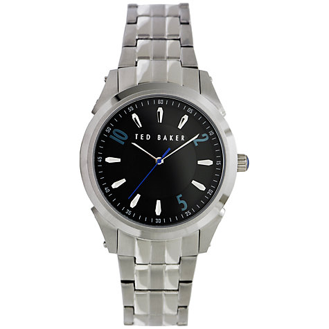 Buy Ted Baker TE3031 Men's Stainless Steel Bracelet Strap Watch, Black / Silver Online at johnlewis.com