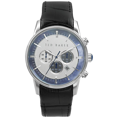 Buy Ted Baker Men's Mother of Pearl Dial Leather Strap Watch Online at johnlewis.com