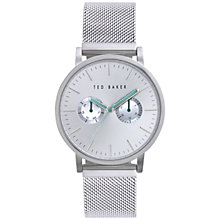Buy Ted Baker TE3037 Men's Multi-Dial Steel Mesh Strap Watch, Silver Online at johnlewis.com