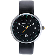 Buy Ted Baker Aadam Men's Leather Strap Watch Online at johnlewis.com