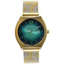 Buy Ted Baker Men's Tonneau Case Mesh Strap Watch Online at johnlewis.com
