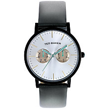 Buy Ted Baker Danyal Multi-Dial Leather Strap Watch Online at johnlewis.com