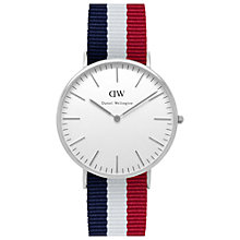 Buy Daniel Wellington Men's Classic Stainless Steel NATO Strap Watch Online at johnlewis.com