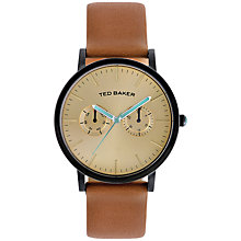 Buy Ted Baker Double Sub-Dial Leather Strap Watch Online at johnlewis.com