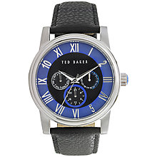 Buy Ted Baker TE1071 Men's Multi Dial Lizard Strap Watch, Black / Blue Online at johnlewis.com