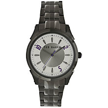 Buy Ted Baker TE3032 Men's Sunburst Dial Stainless Steel Watch, Black Online at johnlewis.com