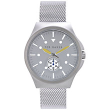 Buy Ted Baker Men's Sub-Dial Mesh Bracelet Strap Watch Online at johnlewis.com
