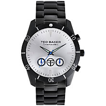 Buy Ted Baker TE3039 Men's Sunburst Dial Stainless Steel PVD Watch, Black / Silver Online at johnlewis.com