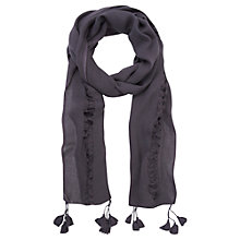 Buy Mint Velvet Ladder Tassel Scarf, Purple Damson Online at johnlewis.com
