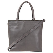 Buy Mint Velvet Leather Tote Handbag, Grey Online at johnlewis.com