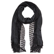 Buy Mint Velvet Jersey Lace Scarf, Blue Midnight Online at johnlewis.com