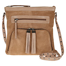 Buy Mint Velvet Suede and Leather Across Body Handbag Online at johnlewis.com