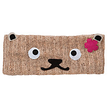 Buy John Lewis Girl Bear Knitted Headband, Brown Online at johnlewis.com