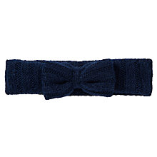 Buy John Lewis Girl Knitted Sequin Headband, Navy Online at johnlewis.com